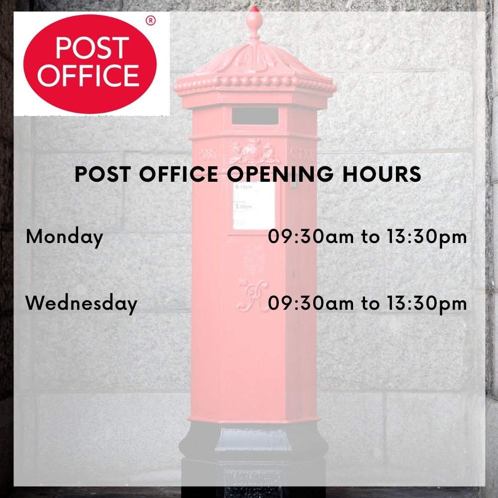 Cilcain shop post office opening times image